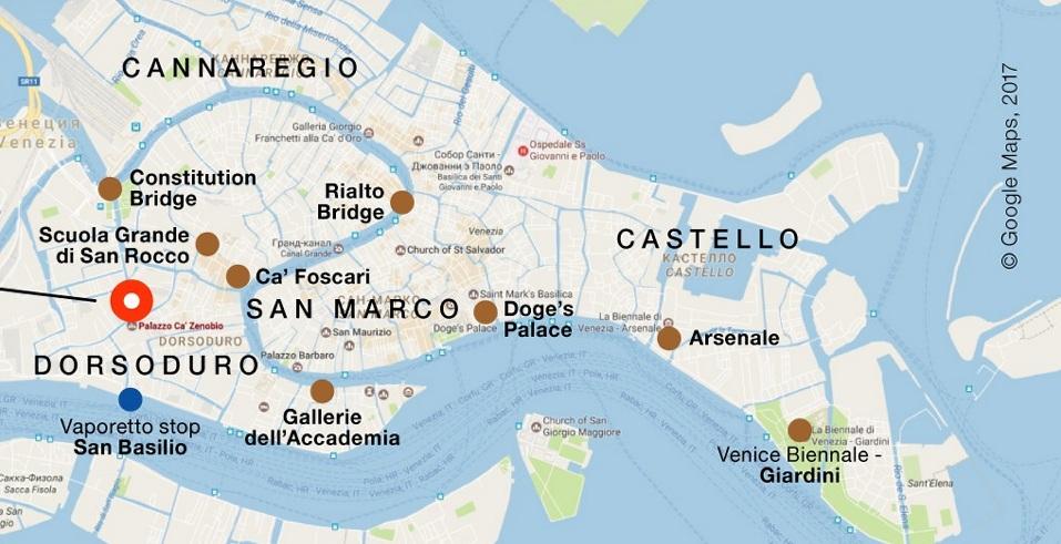 Palazzo Zenobio. Fondamenta Soccorso, 2596, 30123 Venezia, Italy
